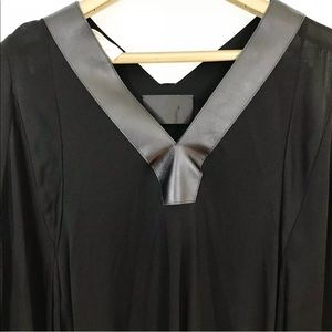 Boudicca Top Leather Trim V Neck Kimono Sleeves